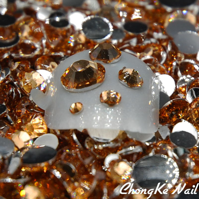 5000pcs/pack Mixed Sizes Light Peach Color Acrylic Rhinestones Spike Rivet 3D Nail Art Tips Craft DIY Design Decorations(China (Mainland))