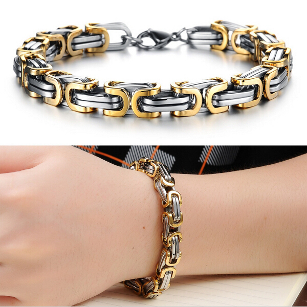 2014 Classic Design Punk 316L Stainless Steel Bracelet Special Biker Bicycle Motorcycle Chain For Mens Bracelets & Bangles(China (Mainland))