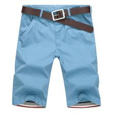 Shorts uomo 2016 di modo di estate mens shorts casual in cotone sottile bermuda masculina bicchierini della spiaggia pantaloni pantaloni di lunghezza del ginocchio pantaloncini(China (Mainland))