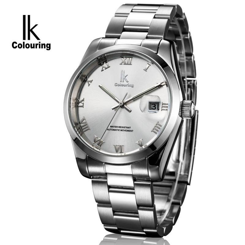Top Brand NEW Fashion Classic Mens Business Watch Hand Wind Mechanical Watches men Full Stainless Steel Skeleton wristwatches(China (Mainland))