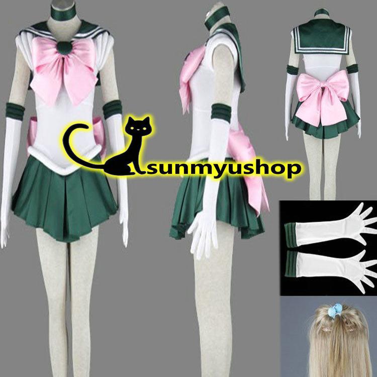 Free Shipping ! Sailor Moon Sailor Jupiter Cosplay costume!  Acceptable orderОдежда и ак�е��уары<br><br><br>Aliexpress