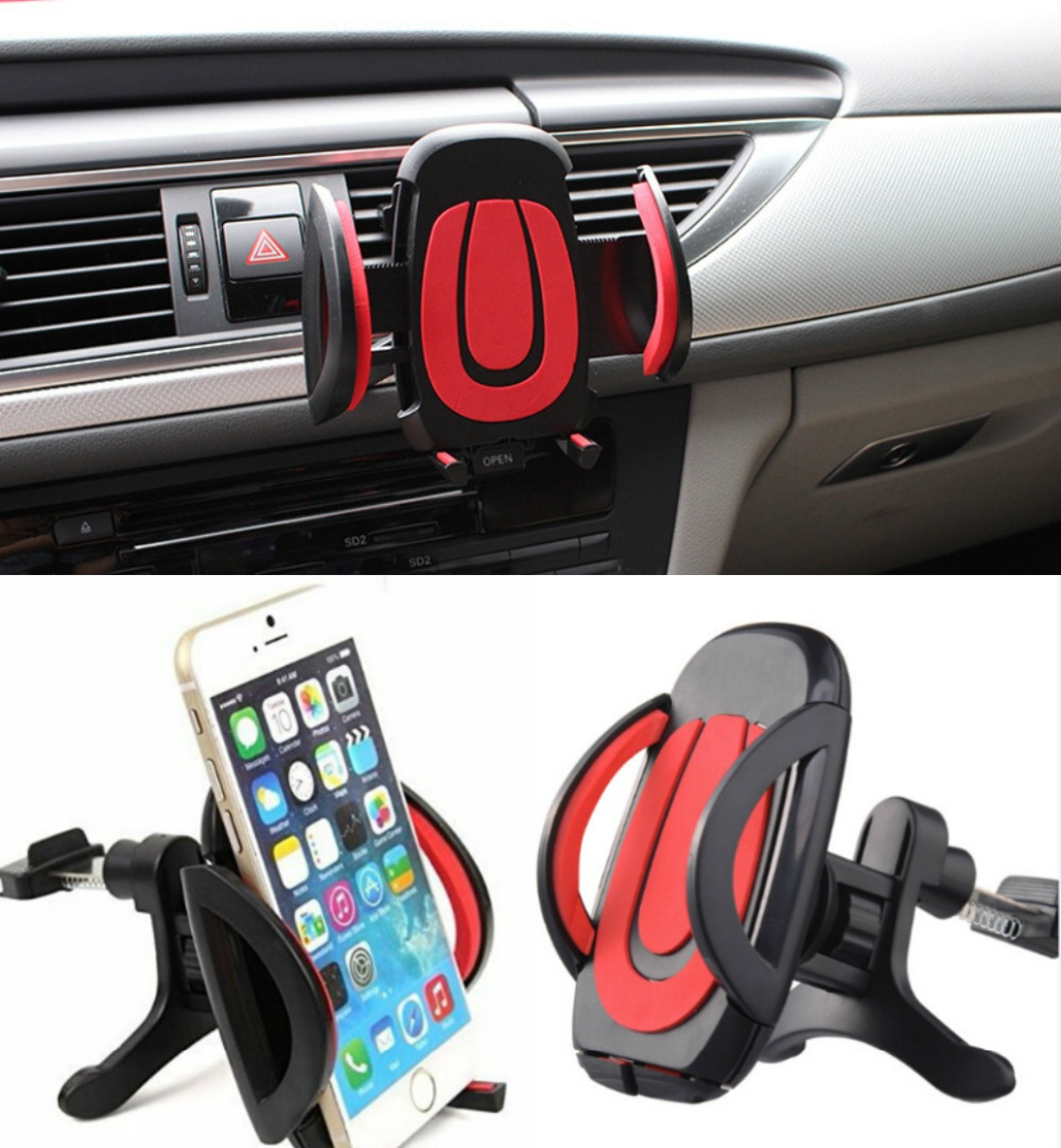 Adjustable Air Vent Universal Car Phone Holder Stand For doogee x5 pro f5 3.5-6 inch GPS Cradle Mount(China (Mainland))