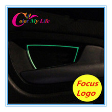 Car Covers Rushed Promotion Luminous Inner Door Bowl Cover Stickers Case for Ford Focus 2 3 Sedan Hatchback 2014 Accessories(China (Mainland))