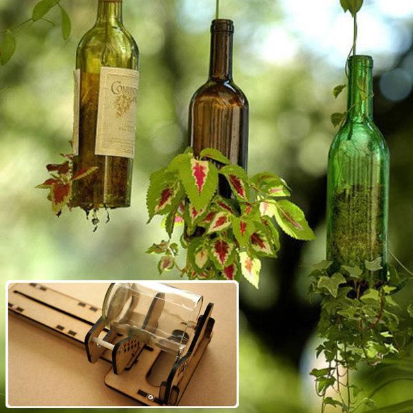 Diy full size glass bottle cutter tool glass cutting for How do i cut glass bottles