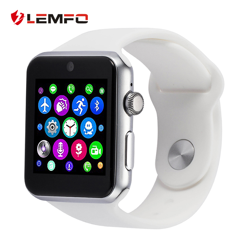 Lemfo Bluetooth Smart Watch 2.5D ARC HD Screen Support SIM Card Wearable Devices SmartWatch Magic Knob For IOS Android New
