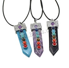 Buy Hot Wholesale Bullet Shape Natural Real AmethystAgate Necklace Crystal Stone Quartz Necklaces Pendant Women Men Jewelry Created for $1.99 in AliExpress store