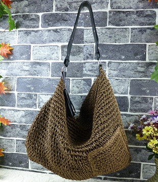 2016 fashion ladies bags made from straw women's hobo bags beach bags B46(China (Mainland))