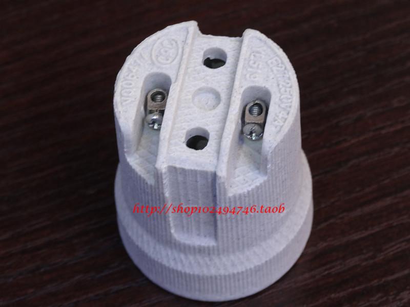 E27 screw-mount lamp base refires ceiling light 7 lamp fitting accessories e27 ceramic lamp holder(China (Mainland))