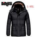 2016 New Men Winter Jacket Big Size 5XL 6XL 7XL 8XLCasual Slim Cotton Warm With Hooded