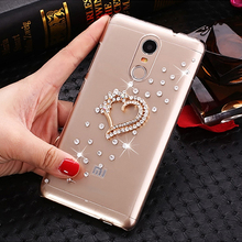 Buy Golden Love Rhinestone Clear hard plastic cover Case Xiaomi Redmi Note 4 / Note 4 Pro / Note 4 Prime / Note 4 Pro Prime Case for $4.25 in AliExpress store