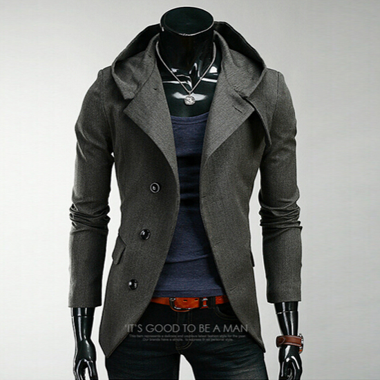 Fur Hooded Trench Coat Mens - Tradingbasis