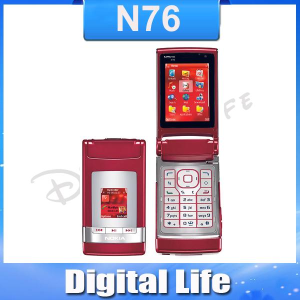 N76 Brand Original Nokia N76 2MP Jave Bluetooth Unlocked Mobile Phone Free Shipping In Stock!!!(China (Mainland))