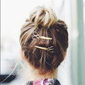 2016 Gold Silver Plated Cute Scissors Shaped Hairpins Hair Jewelry Head Accessories Clip Hair Pin for