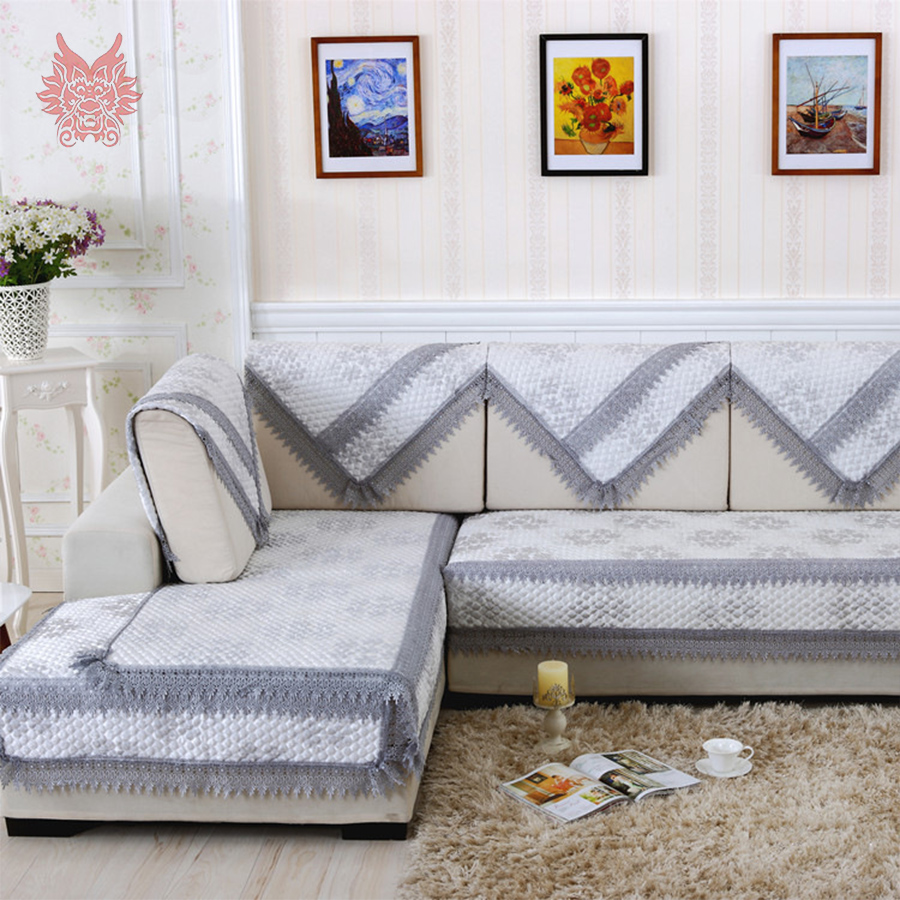 European style high grade grey floral jacquard quilted for Decoration canape