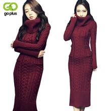 Buy GOPLUS 2017 Winter Women Sweater Dress Korean High-Necked Long Slim Twist Turtleneck Knitted Sweater Dress Women Winter Dress for $24.97 in AliExpress store