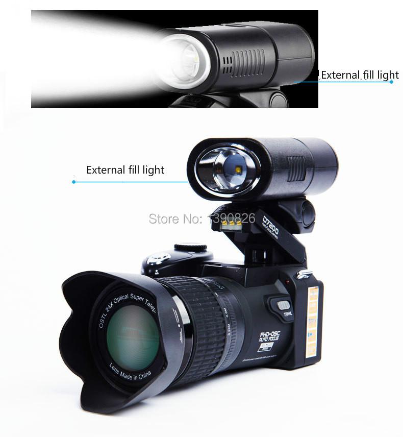 D7200 digital video camera 33 million pixel camera digital Professional camera 24X optical zoom camera plus LED headlamps free(China (Mainland))
