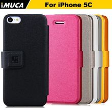 luxury leather case for iphone 5c cover for iphone 5c case imuca brand phone cases shell magnetic cover bag bookstyle Capa Para(China (Mainland))