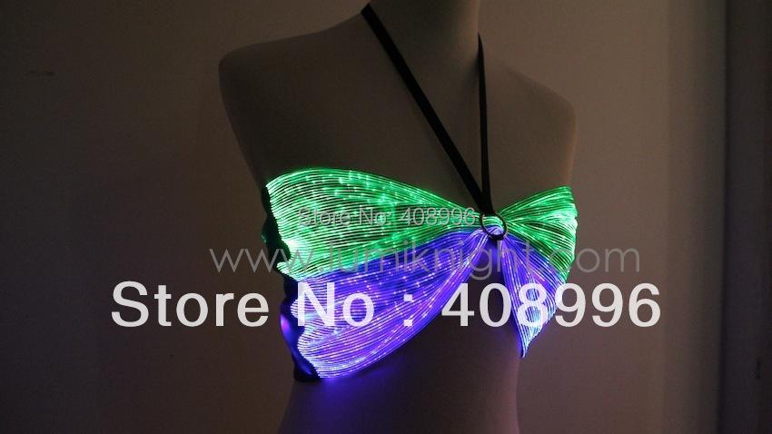Sexy optical fiber luminous bra for club performance/fashion show/Singular dress/Show Clothing/09Одежда и ак�е��уары<br><br><br>Aliexpress