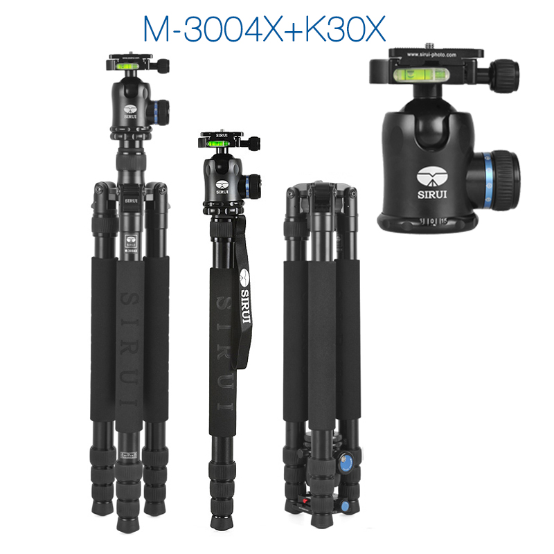 SIRUI M3004 M-3004 tripod for camera professional aluminum tripod K30 ball head 4 section Max loading 18kg DHL Free Shipping(China (Mainland))