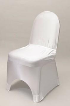белый стрейч стул крышка, низкая цена, популярные Свадебные & партии & banquet Председатель Обложка