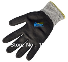 Working Gloves Water Base PU ESD Gloves Cut Resistant Safety Glove HPPE Anti Cut Work Glove(China (Mainland))
