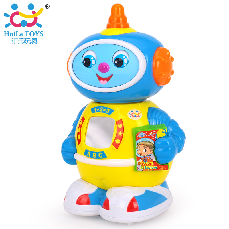 Kids Toy Space Robot Bump and Go Action Music Lights and Tons Fun Early Learning Walking Robot Music Light Gift for 12M+ Baby(China (Mainland))