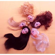 1pcs Quality Doll Head with Colorized Hair DIY Accessories For Barbie Doll Baby DIY Toys(China (Mainland))
