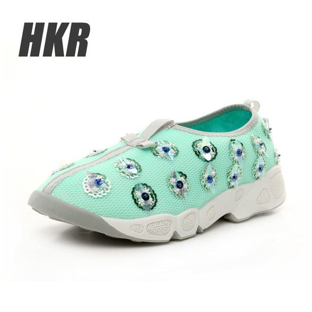 HKR 2016 весна женщин повседневная обувь Цветочные лианы обувь женщина Увеличение ...