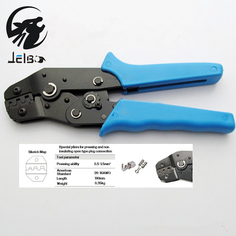Jelbo Crimping Tool Mini Terminal Crimping Pliers Multitool Clamp Manual Wiring Insulation Pliers Hand Tools Crimping Blue(China (Mainland))