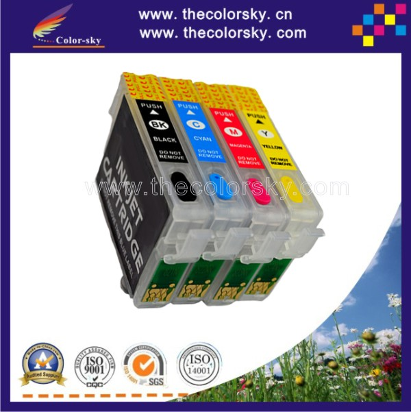 (RCE1331) refillable refill ink cartridge for Epson T1331/T1332/T1333/T1334 T133 T 133 BK/C/M/Y (with ARC chip) free shipping<br><br>Aliexpress