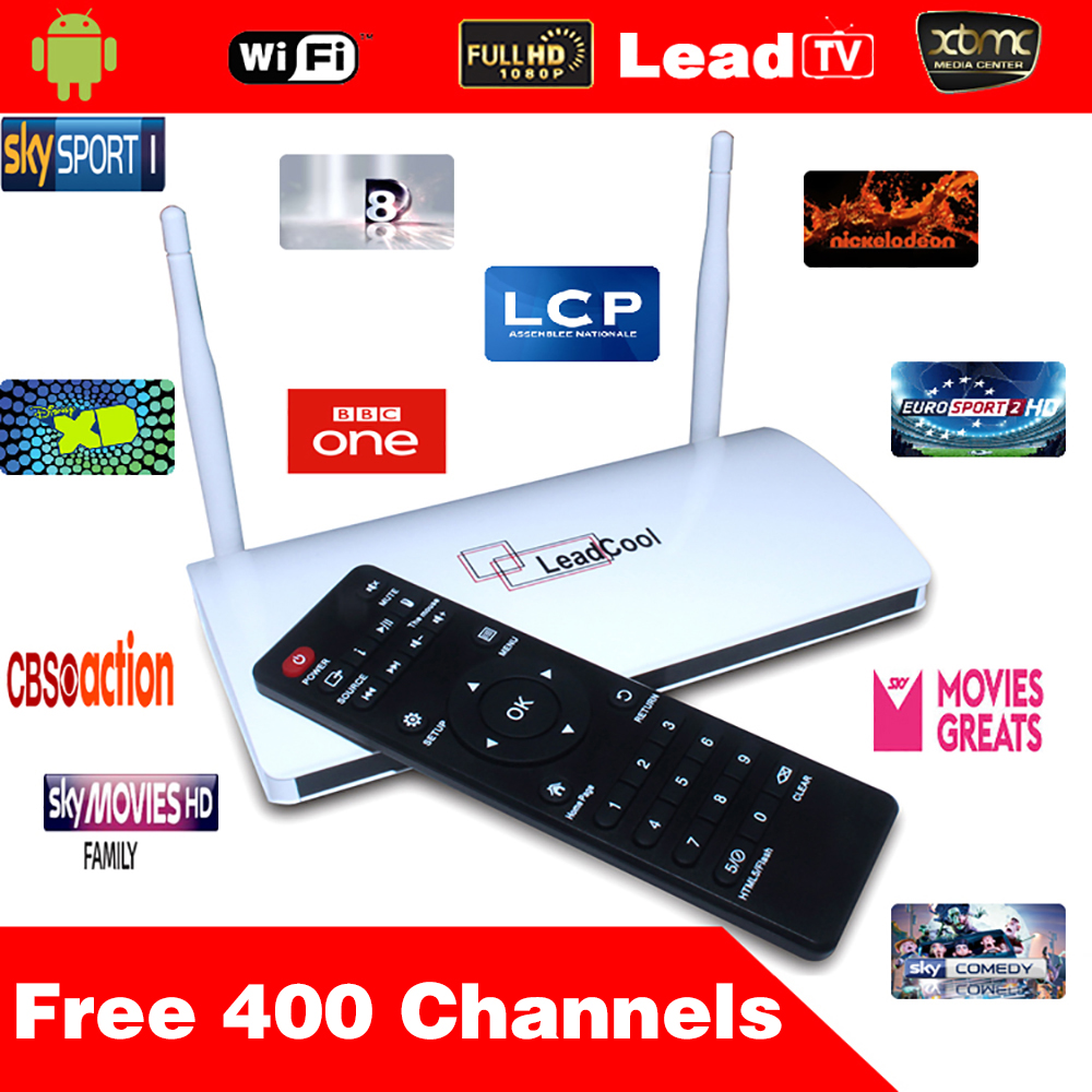 5pcs/Lot Arabic Iptv Box Leadcool Android Tv Box Quad Core Android 4.4 512M/8G + One Year Arabic Iptv Apk Bein Sport Canal Sky<br><br>Aliexpress
