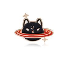 Andare osservare le stelle! Costellazioni pins Cat Squalo Balena Stellato Luna Mountain perni del Risvolto Spilla Distintivi e Simboli Romantico spille(China)