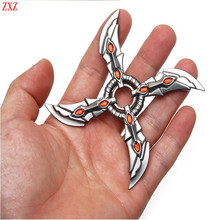 Buy LOL OW Sivir genji Shadow Master Zed Shuriken High Zinc Alloy Weapons Keychain Model Kids Christmas Gift Jax cool toys for $3.99 in AliExpress store