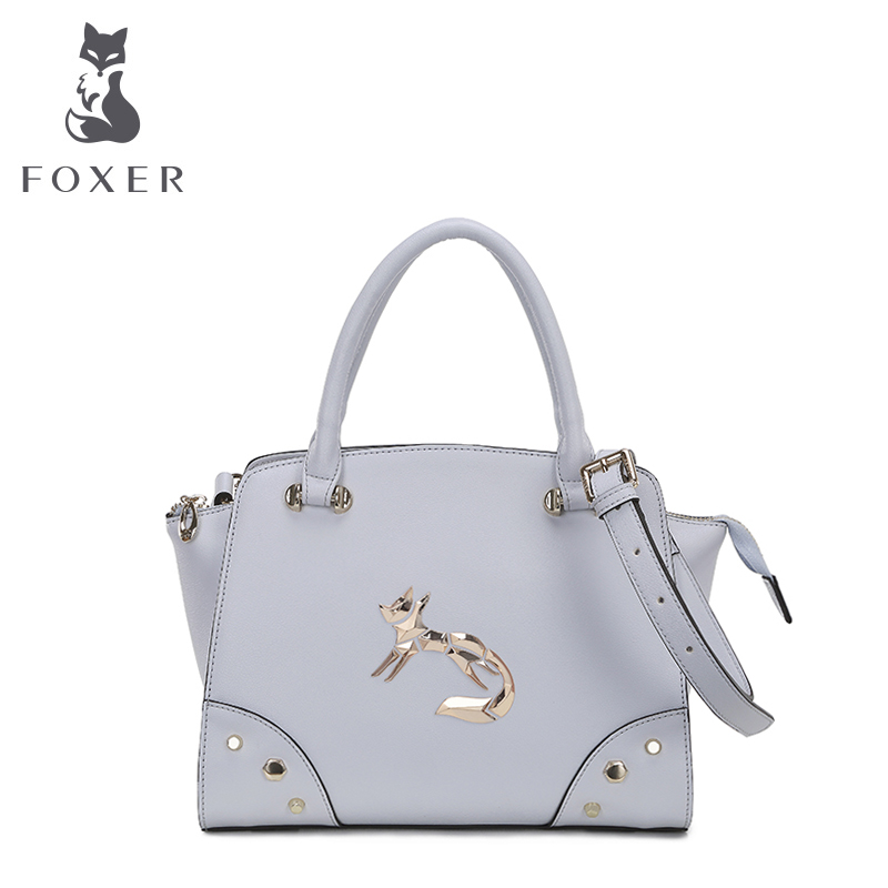 Foxer Luxury Female Tote Fresh color handbags women Leather Casual Bags Lady messenger crossbody shoulder Bag manufacturer(China (Mainland))