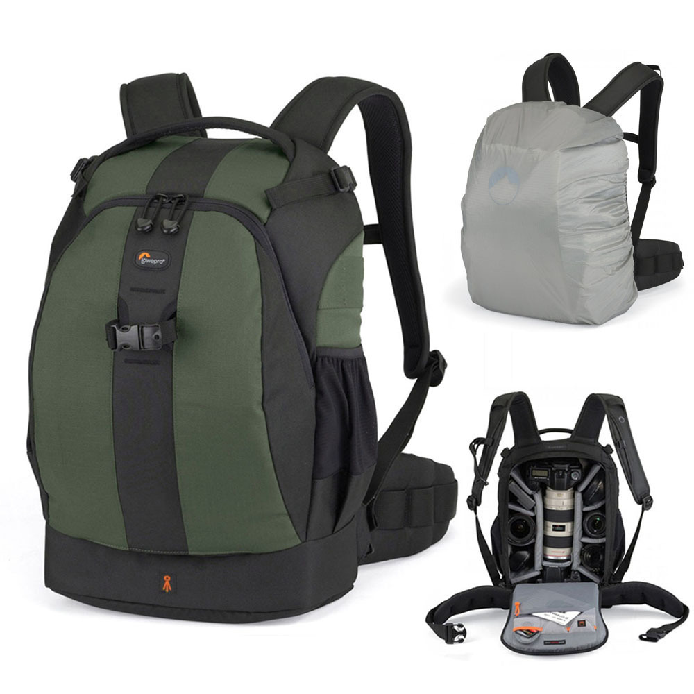 2015 Green Genuine Lowepro Flipside 400 AW DSLR Camera