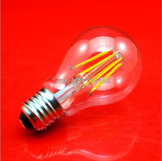 (50 pieces/lot) Hight Brightness E27 LED Bulb Lamps 4W 6W 8W LED Bulb Lights AC 220V Warm/Cold White LED Filament Bulb Wholesale(China (Mainland))