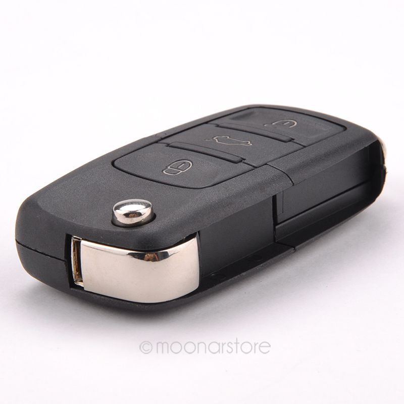 Folding Car Remote Flip Key Shell Case Fob For Volkswagen Vw Jetta Golf Passat Beetle Polo