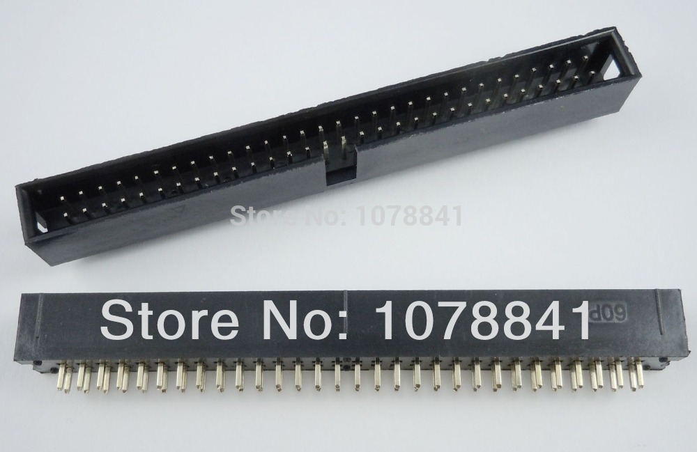 50 Pcs Per Lot 2.54mm 2x30 Pin 60 Pin Straight Male Shrouded PCB Box header IDC Socket от Aliexpress INT