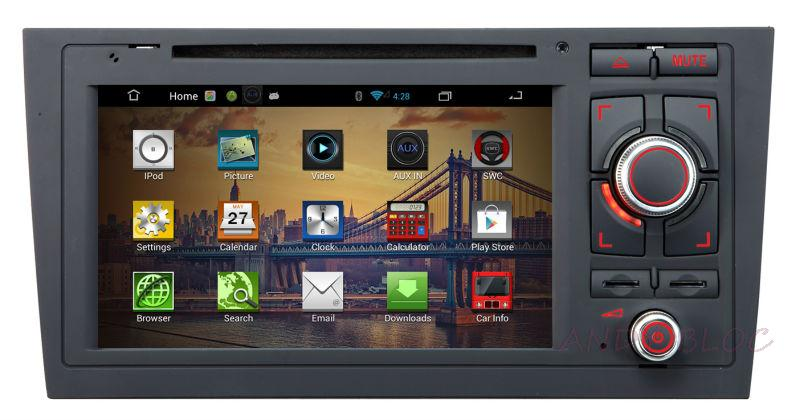 Car DVD Multimedia Player case AUDI A6 A8 Q7 2005-2009 GPS Bluetooth IPOD Control USB Port Radio Free Map - Famous Andy Electronic Trading Bloc store