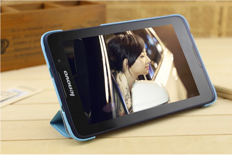 2014 Newest Lenovo A3500 Folio PU Stand Leather Case Cover Tab A7-50 7 inch Tablet PC+ - Protected Mode store