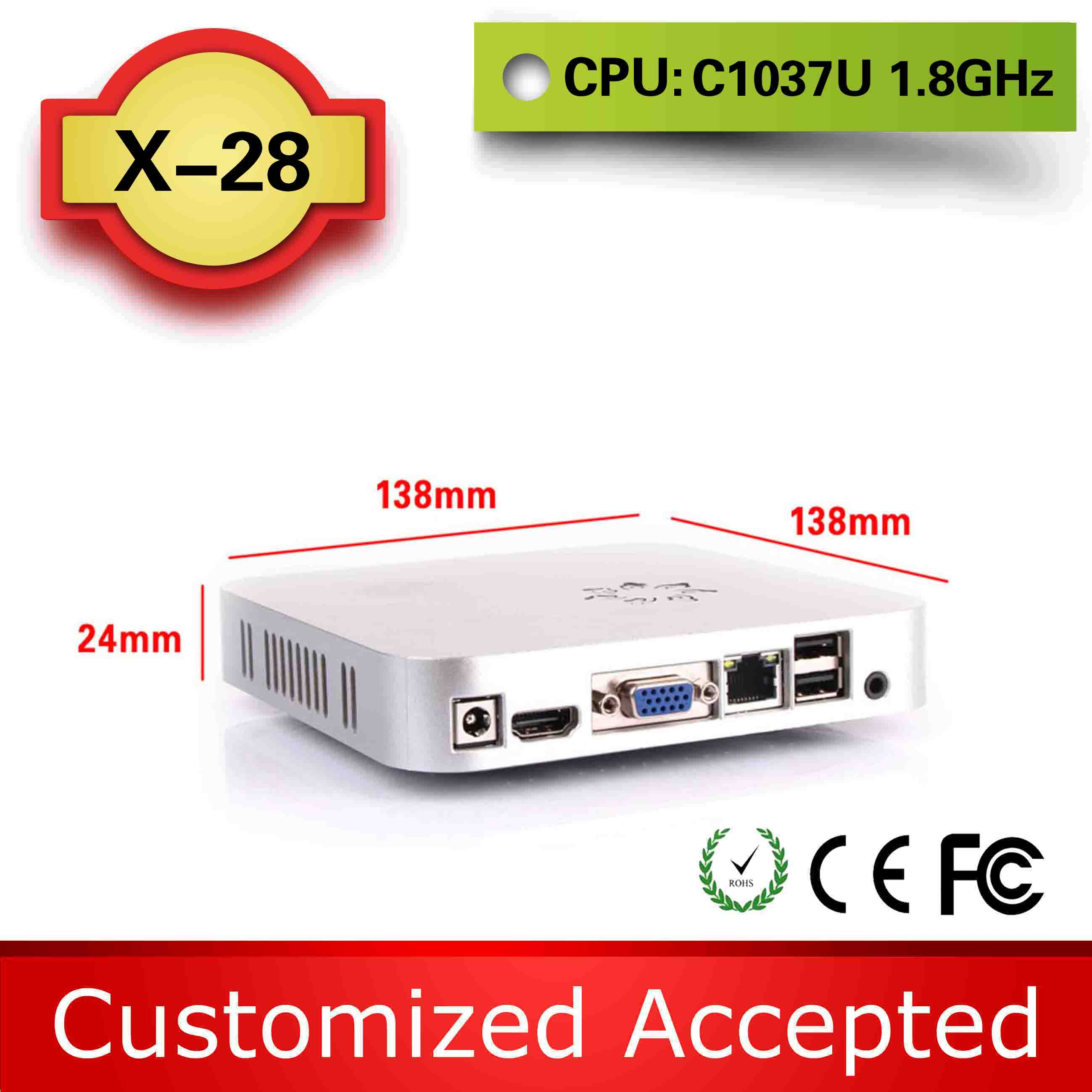 12*12 mini motherboard X28 c1037u mini pc barebone thin client embedded computer living room computer small compact Save space(China (Mainland))