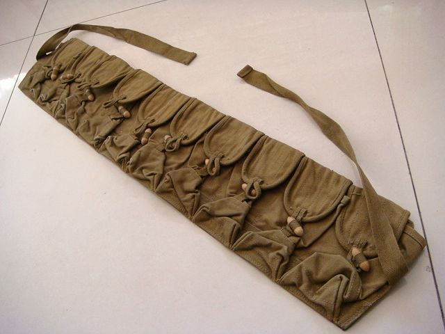 OLD ORIGINAL CHINESE ARMY 56/TYPE 7.62MM AMMO AMMUNITION POUCH BAG #2214(China (Mainland))