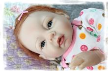 Buy 55cm Baby Girl Silicone Reborn Baby Dolls Bonecas Bebe Reborn Vinyl Reborn Baby Dolls Silicone Sleeping Doll Action Figure