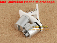 Universal Clip 60X Microscope with LED UV Lights Mobile Phone Lens For HTC Desire 820 826