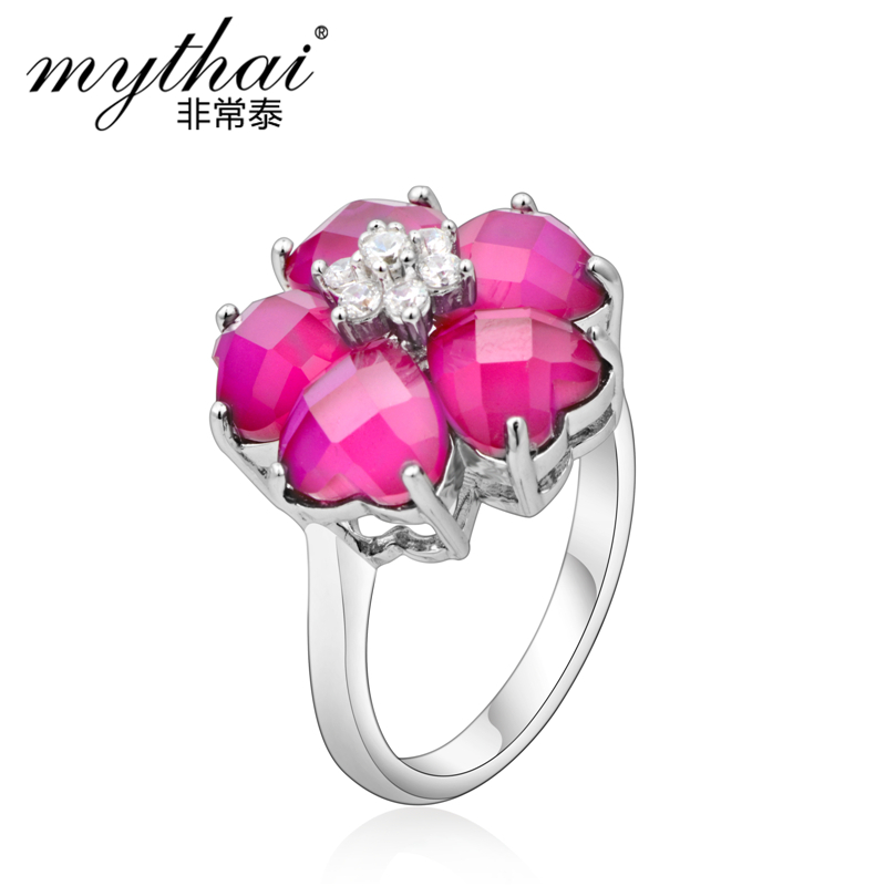 925 pure silver ruby flower ring women's personalized handmade accessories 2013 - Chinese Jewelry City store