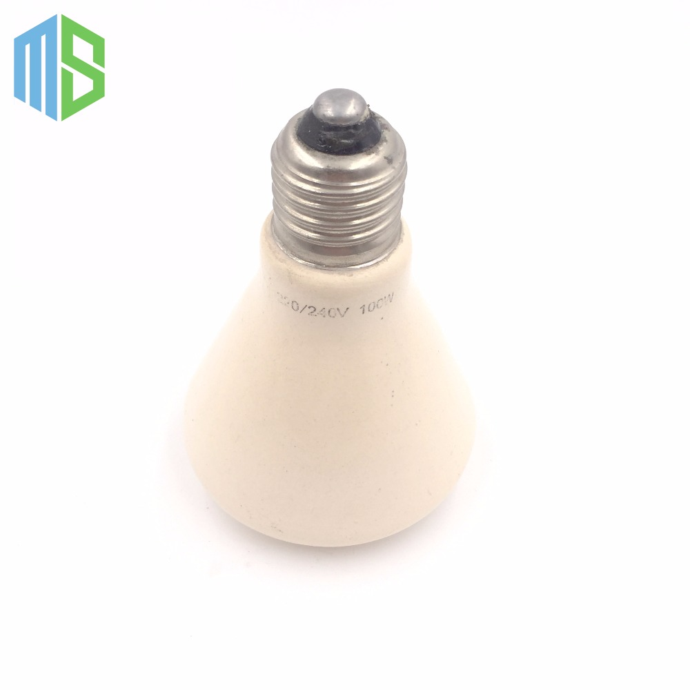 220V 75x95mm 50~100W Pet Ceramic Emitter Heated Plate Appliance Reptile Poultry Heating Breeding Light Bulb For E27 Lamp Holder(China (Mainland))