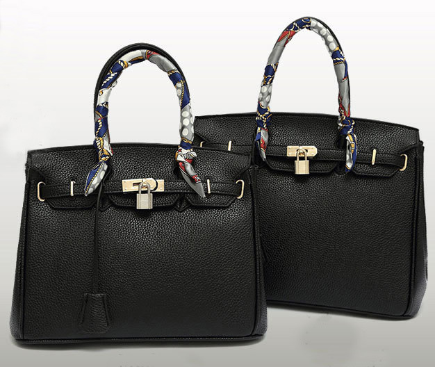 2015 Classic Litchi Pattern Leather Women Bag Medium Size Top Grade Polyester Lining Birking Shape Kelli Purse G5865-2(China (Mainland))