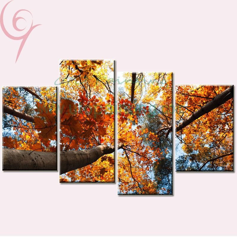 Unframed home decor canvas painting 4 piece canvas art picture canvas prints modern paintings - Canvas prints home decor photos ...