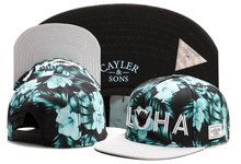 New brand C&S ALOHA CAP Green flower adjustable baseball cap snapback hat sports hip hop adult sun active cap for men women bone