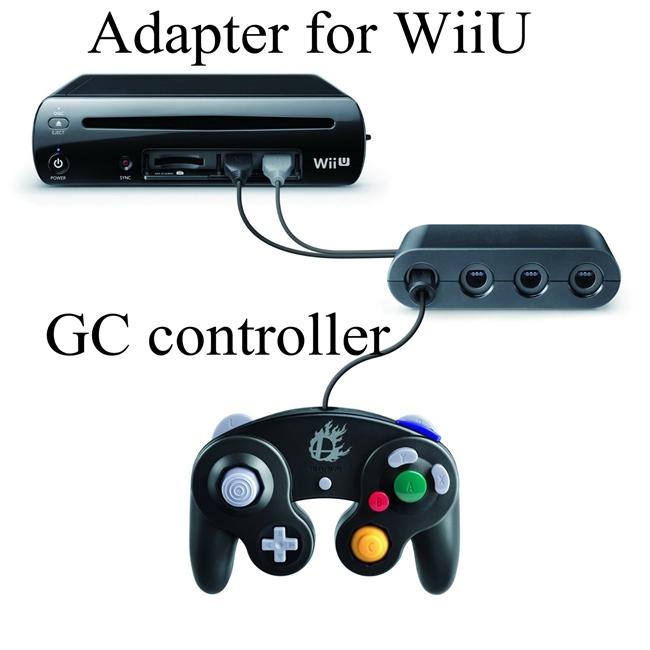 Gamecube controllers adapter for WiiU GC joysticks adapter(China (Mainland))